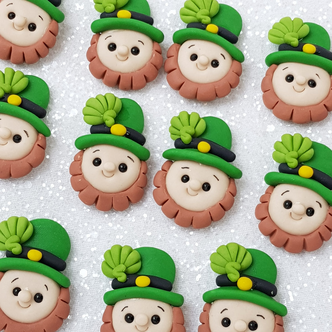 Clay Charm Embellishment - NEW leprechaun - Crafty Mood
