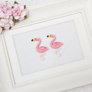 Pink flamingo - Embellishment Clay Bow Centre - Crafty Mood
