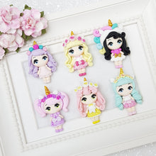 Load image into Gallery viewer, Beautiful Unicorn Girls - Embellishment Clay Bow Centre - Crafty Mood