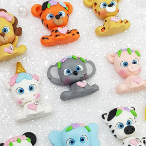 Baby Animals - Handmade Flatback Clay Bow Centre - Crafty Mood