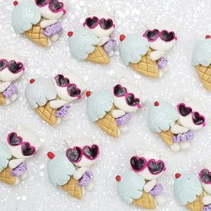 Cool Summer Cat - Embellishment Clay Bow Centre - Crafty Mood