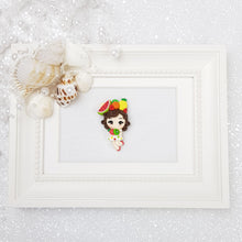 Load image into Gallery viewer, Tropical Fruit Girl - Embellishment Clay Bow Centre - Crafty Mood