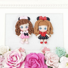 Load image into Gallery viewer, Cute polka dots Girls - Embellishment Clay Bow Centre - Crafty Mood