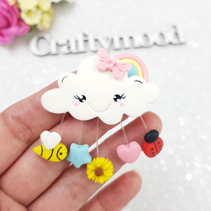 Spring Cloud - Embellishment Clay Bow Centre