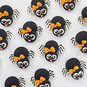 Cute Halloween Spider - Embellishment Clay Bow Centre