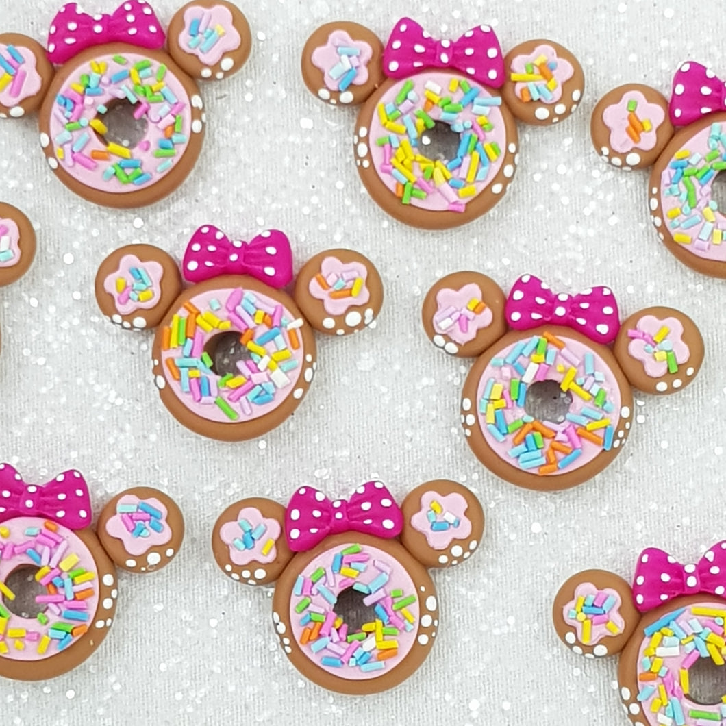 Donut Mouse - Embellishment Clay Bow Centre