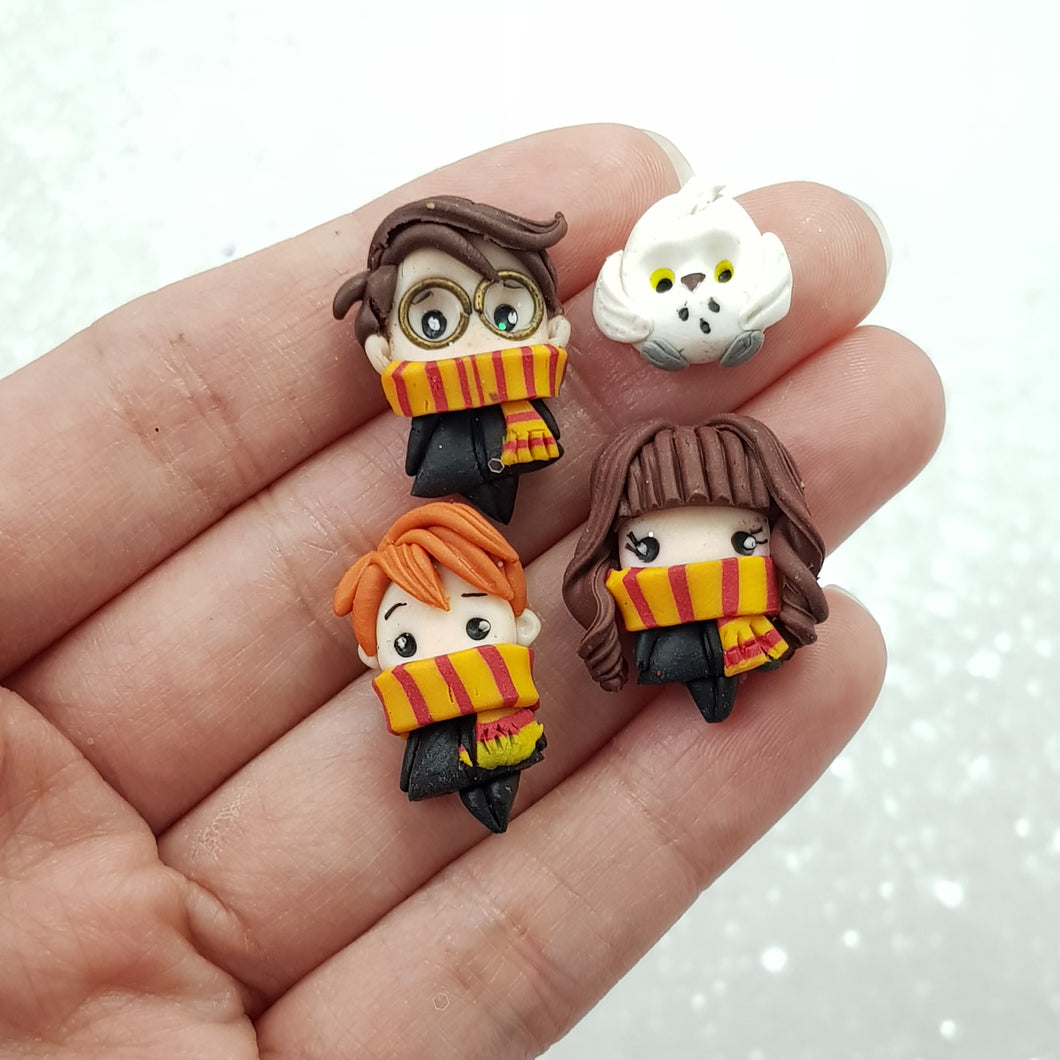 Cute Magic Friends - Embellishment Clay Bow Centre