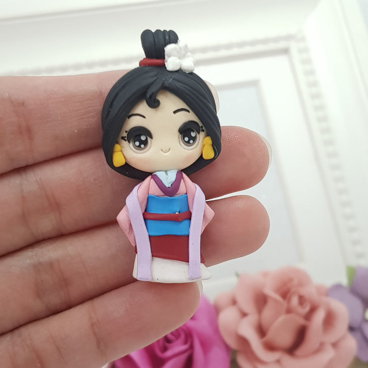 Pretty Asian Girl - Embellishment Clay Bow Centre