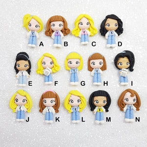 Adorable Medical Girl - Embellishment Clay Bow Centre