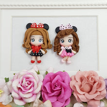 Load image into Gallery viewer, Cute polka dots Girls - Embellishment Clay Bow Centre