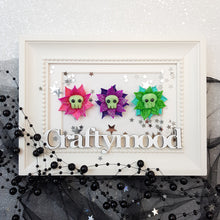 Load image into Gallery viewer, Halloween Flower- Glow in the dark - Embellishment Clay Bow Centre