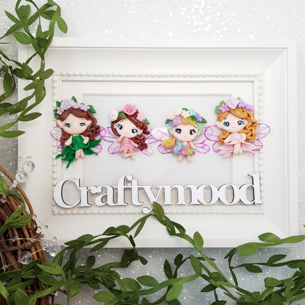 Cute Flower Fairies - Handmade Flatback Clay Bow Centre