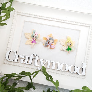 Adorable Autumn Fairies - Embellishment Clay Bow Centre
