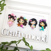 Cute Summer Girls - Handmade Flatback Clay Bow Centre