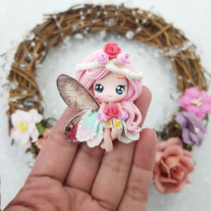 MAX 3 EACH PERSON Cutie butterfly fairy D - Embellishment Clay Bow Centre