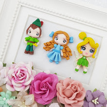 Load image into Gallery viewer, Cutie pout neverland friends - Embellishment Clay Bow Centre