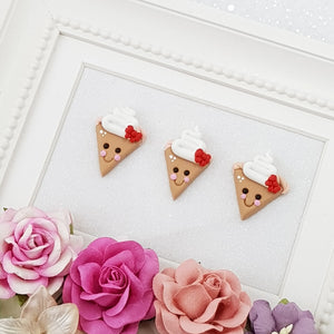 Cutie pie - Embellishment Clay Bow Centre