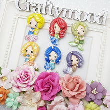 Load image into Gallery viewer, Cutie mermaid girl - Embellishment Clay Bow Centre