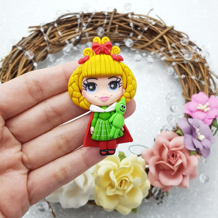 MAX 8 EACH PERSON Christmas girl pout - Embellishment Clay Bow Centre