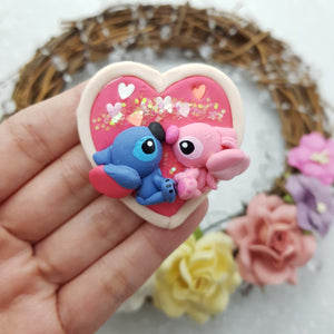 Adorable monster cameo - Embellishment Clay Bow Centre