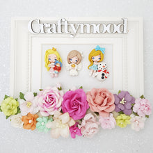 Load image into Gallery viewer, LIMITED ! SET of 3 Adorable Christmas angel and girls - Embellishment Clay Bow Centre