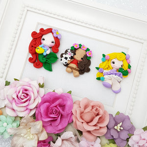 Cutie princess - Embellishment Clay Bow Centre