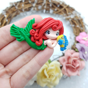 Adorable mermaid princess - Embellishment Clay Bow Centre