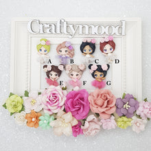 Load image into Gallery viewer, Flower Ballet Girls - Handmade Flatback Clay Bow Centre