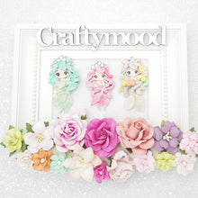 Load image into Gallery viewer, Crystal Mermaid - Handmade Flatback Clay Bow Centre