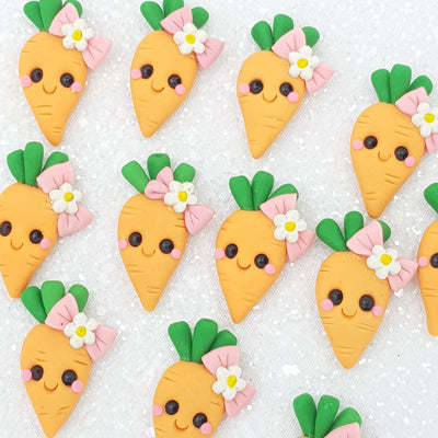 Clay Charm Embellishment - New carrot