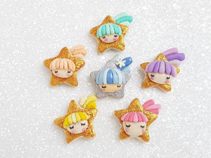 Sale Clay Charm Embellishment - New Shooting Stars - Crafty Mood