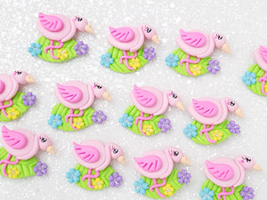 Clay Charm Embellishment - Flamingo Delight - Crafty Mood
