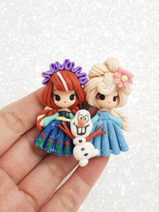 Clay Charm Embellishment New sister forever winter spe - Crafty Mood