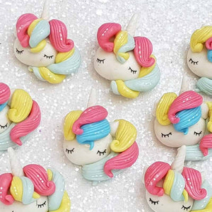 Clay Charm Embellishment - NEW UNICORN HEAD SLEEPY - Crafty Mood