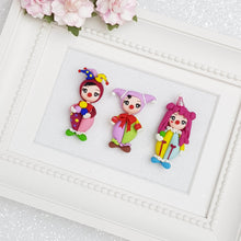 Load image into Gallery viewer, Clay Charm Embellishment - Clown Girl - Crafty Mood