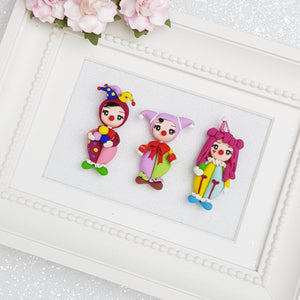Clay Charm Embellishment - Clown Girl - Crafty Mood