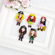 Load image into Gallery viewer, Clay Charm Embellishment - Pirate Girl - Crafty Mood