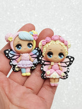 Load image into Gallery viewer, Clay Charm Embellishment - NEW Big Eyes Butterfly Doll - Crafty Mood