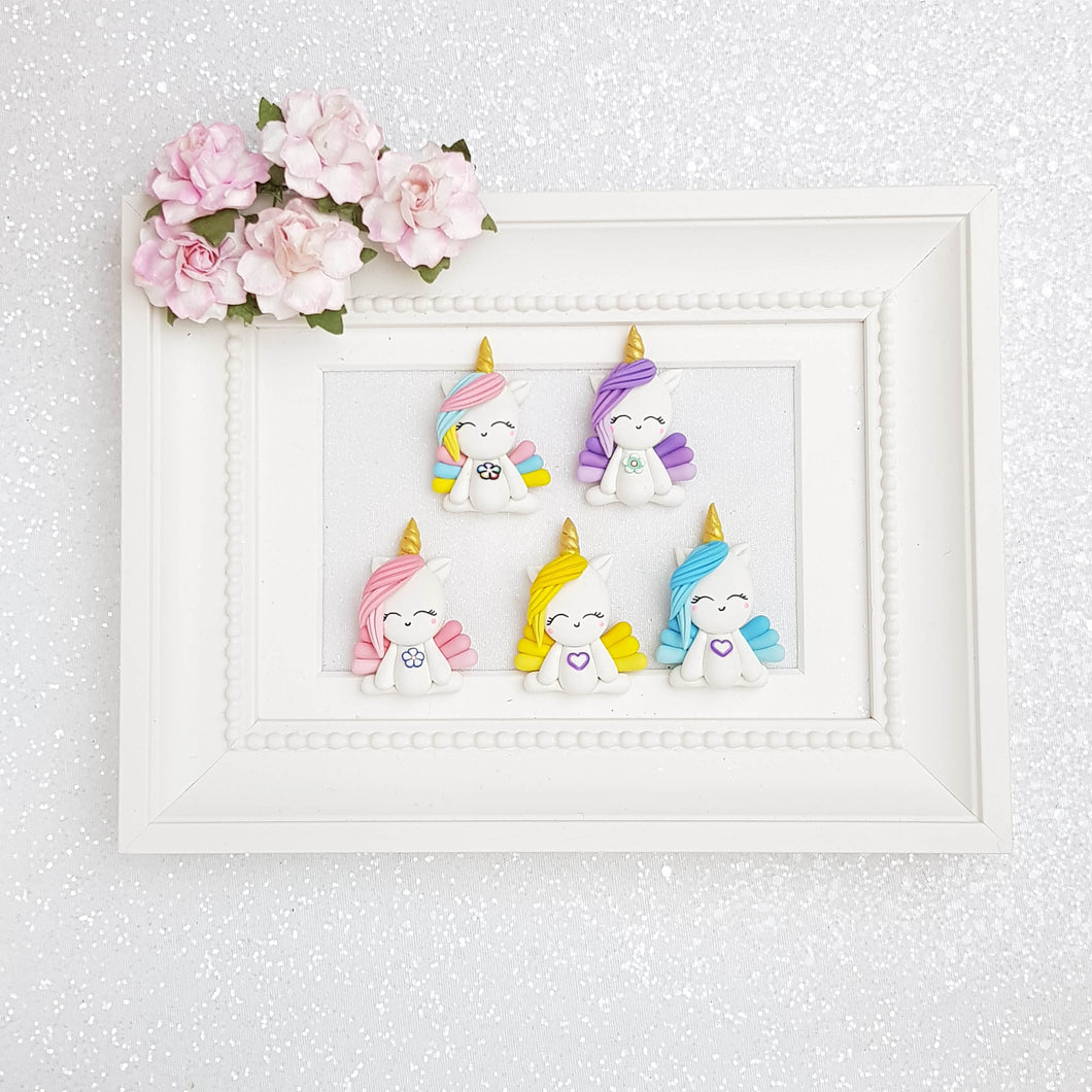 Clay Charm Embellishment - Unicorn Delight - Crafty Mood