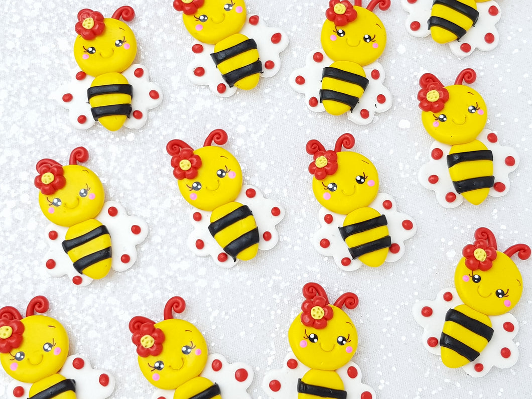 Clay Charm Embellishment - Bee Delight - Crafty Mood