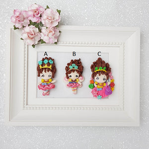 Clay Charm Embellishment - Fancy Girl - Crafty Mood