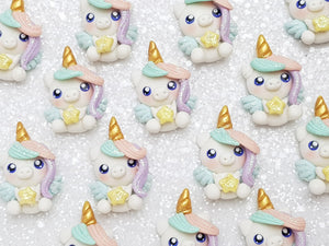 Clay Charm Embellishment - NEW Unicorn Pastel - Crafty Mood