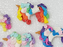 Load image into Gallery viewer, Sale Clay Charm Embellishment - Unicorn Full Body Colorful - Crafty Mood
