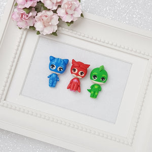 Clay Charm Embellishment - Big Eyes Mask Superhero - Crafty Mood