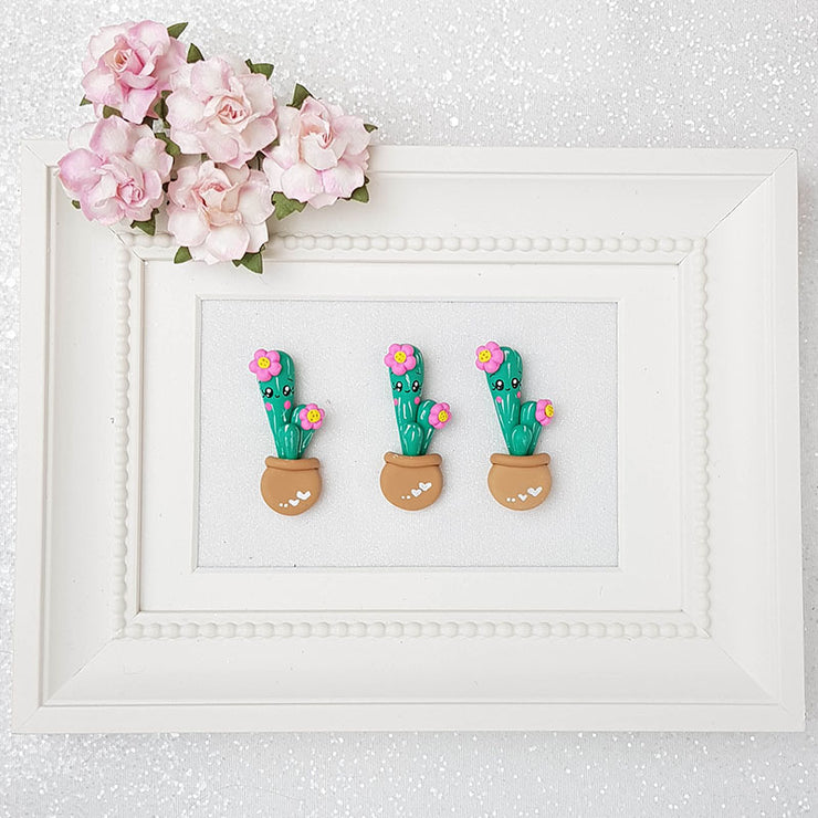 Clay Charm Embellishment - Cactus Delight - Crafty Mood