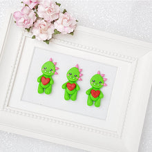 Load image into Gallery viewer, Sale Clay Charm Embellishment - Dino Delight - Crafty Mood