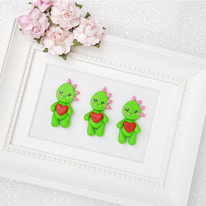 Sale Clay Charm Embellishment - Dino Delight - Crafty Mood