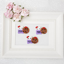 Load image into Gallery viewer, Clay Charm Embellishment - Milk and Cookies Delight - Crafty Mood