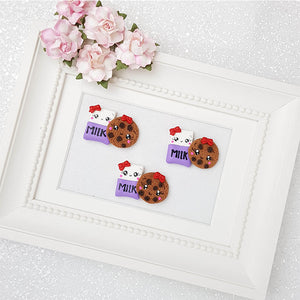 Clay Charm Embellishment - Milk and Cookies Delight - Crafty Mood