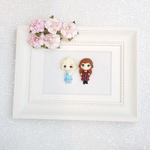 Load image into Gallery viewer, Clay Charm Embellishment - Big Eyes Winter Princess - Crafty Mood